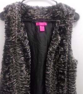 Betsey Johnson Vegan Fur Vest